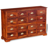 Dulap cu sertare 120 x 30 x 75 cm, lemn masiv de sheesham