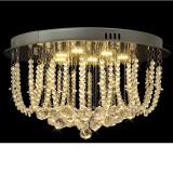 Lustră candelabru cu cristale și LED-uri, diametru 45 cm