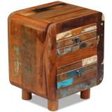 Noptieră din lemn reciclat de esență tare, 43 x 33 x 51 cm
