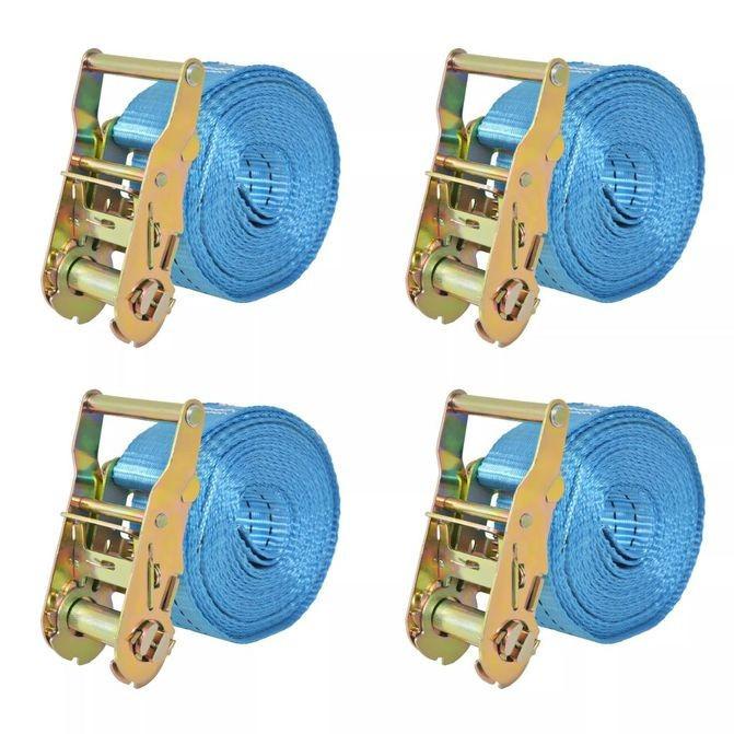 Chingi fixare cu clichet, 4 buc., 2 tone, 6mx38 mm, albastru foto mare