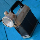 Cumpara ieftin LAMPA VECHE DE MINER ROMANEASCA - ELBA TIMISOARA - FACUTA DIN MATERIAL PLASTIC