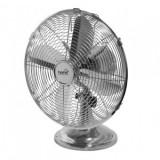 Ventilator de birou, Home TFS 30, diametru 30 cm, 35 W, palate metalice, argintiu