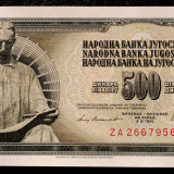 IUGOSLAVIA 500 DINARA 1981 REPLACEMENT (prefix ZA) UNC necirculata  **