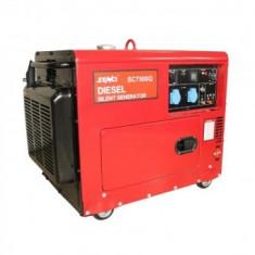 Generator de curent diesel Senci SC7500Q, 6000 W, AVR si ATS inclus, demaraj electric, insonorizat, 230V