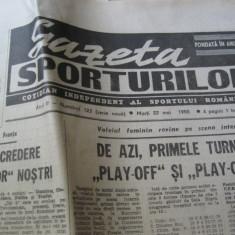 Ziarul Sportul (22 mai 1990)