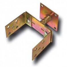 Suport stalp tip U fixare in beton, latime reglabila, cu talpa fixa, Strend Pro MA2303, 110-160 mm, Zn