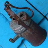LAMPA VECHE DE MINA / MINER PE CARBID - FACUTA DIN FIER - STARE BUNA