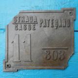 STRADA / GASSE PATESANU - NUMAR AUSTRO-UNGAR DE  CASA DIN COSITOR - ANII 1900