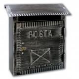 Cutie postala exterior Alubox Rustica Reeco, fier forjat lucrat manual, 26 x 10 x 26.5 cm