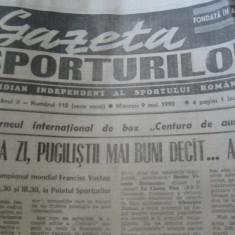 Ziarul Sportul (9 mai 1990)