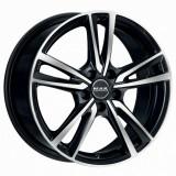 Jante AUDI A1 6J x 15 Inch 5X100 et38 - Mak Icona Black Mirror, 6, 5