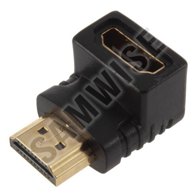 Adaptor DeTech HDMI - HDMI, Female - Male, Negru foto