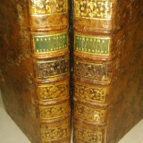 Carti vechi Histoire Ecclesiastique secol 18 istorie crestina de colectie piele