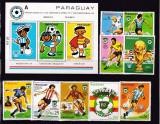 Paraguay 1980  sport  fotbal  MI  3327-3335 + bl.358    MNH  w52, Nestampilat