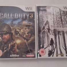LOT 2 jocuri - Call of Duty 3 + Resident Evil 4 - Nintendo Wii [Second hand], Shooting, 3+, Multiplayer