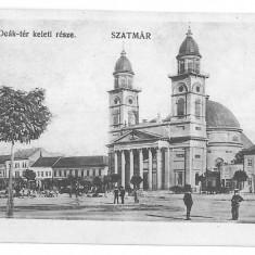 3239 - SATU MARE, Romania, Market - old postcard - used - 1911, Circulata, Printata