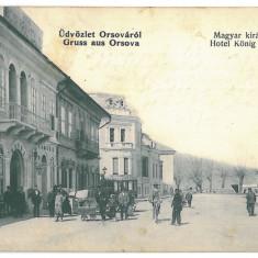 3542 - ORSOVA, Romania, Hotel Konig - old postcard - used - 1909, Circulata, Printata