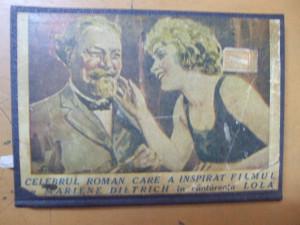 Ingerul albastru Heinrich Mann Marlene Dietrich Lola editura Adeverul