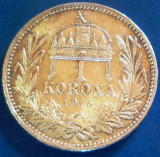 MONEDA ISTORICA ARGINT 1 KORONA - UNGARIA, anul 1915   * CJACOD 71, Europa
