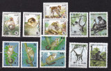 3 serii  fauna  WWF  maimute   MNH  w52, Nestampilat