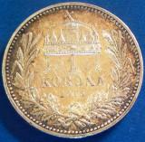 MONEDA ISTORICA ARGINT 1 KORONA - UNGARIA, anul 1915   * CJACOD 70 --- A.UNC+, Europa
