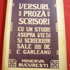 Costache Negri- Versuri Proza Scrisori 1909, studiu de Emil Garleanu ,224 pag