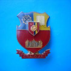 ROMANIA INSIGNA STEMA HERALDICA MUNICIPIUL CRAIOVA