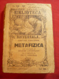 Dimitrie Cantemir- Metafizica -Ed.1928 trad. N.Locusteanu- Biblioteca Univ.158