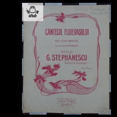 Partitura muzicala - G Stephanescu - Cantecul fluierasului