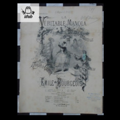 Partitura muzicala - E Bourgeois La veritable manola