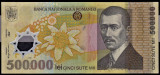 1) Bancnota 500000 ( 500.000 ) Lei 2000 Mugur Isarescu polimer VF+