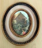 Tablou matase - decorativ / de colectie - Breughel - rama lemn