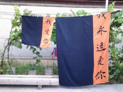 Literele Japoneze - Lenjerie pat 1 persoana (varianta 2) foto