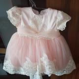 Rochita de botez., 3-6 luni, Roz