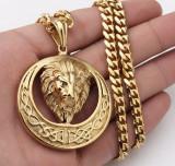 Lant +medalion  INOX placat model Versace LION