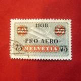 Serie Pro Aero supratipar 75c rosu pe 50 - 1938 Elvetia 1 val. stampilat