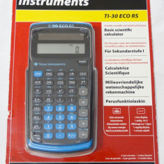 Calculator stiintific Texas Instruments TI-30 Eco RS solar - nou - sigilat