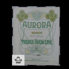 Partitura muzicala - Tiberiu  Brediceanu Aurora