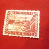 Timbru 5 Sh. rosu 1945 Austria , stampilat