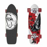 Skateboard  - Cruiserv- Crow/Silver/Transparent Red 26'', Cruiser