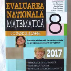"""EVALUAREA NATIONALA MATEMATICA Clasa a VIII-a - 2017"", Gh. Iurea si col., 2016, Alta editura"