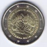 PORTUGALIA moneda 2 euro comemorativa 2018 - Grădina botanică din Lisabona UNC, Europa, Cupru-Nichel