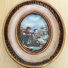 Tablou matase - decorativ / de colectie - Fragonard - rama lemn