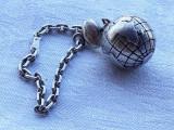 Rezervat 15.10 - BRELOC argint masiv GLOB PAMANTESC simbol al CALATORIEI vechi, Ornamentale