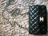 Geanta Chanel Mini Originala, Negru, Mica