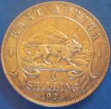 MONEDA ISTORICA ARGINT 1 SCHILLING - AFRICA DE EST, anul 1924  *CJACOD 03 - rara