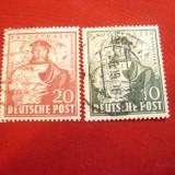 Serie mica :10pf si 20 pf. 1949 Targ Hanovra -Ocupatia Aliata in Germania,stampi, Stampilat