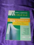 Limba si literatura romana Teza cu subiect unic clasa a VIII a semestrul 1 f0795
