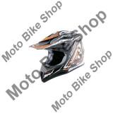 MBS Casca motocross Madhead Fiber-Mex Ultra, negru/alb/portocaliu, XL, Cod Produs: 21585905LO