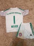 Compleu BAYERN MUNCHEN,1 NEUER,model nou, YXL, YXS, Tricou + Pantalon